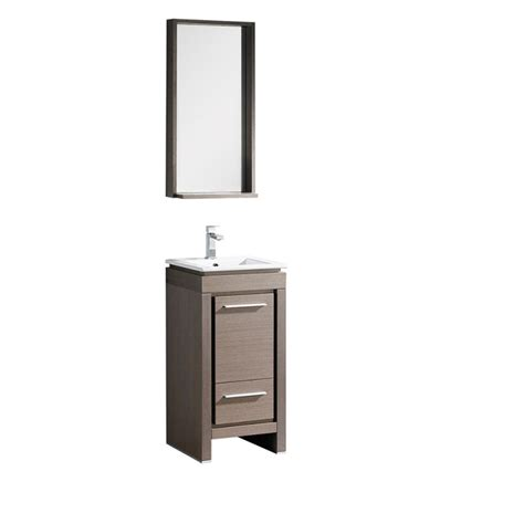 fresca allier 16 quot gray oak modern bathroom vanity w