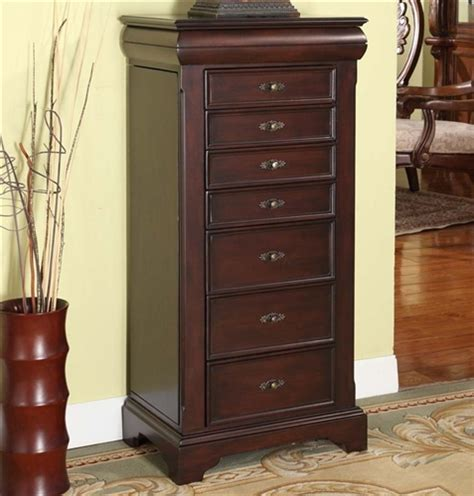 fully locking jewelry armoire large locking jewelry armoire espresso finish