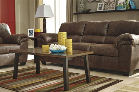 casual faux leather sofa  signature design  ashley wolf furniture
