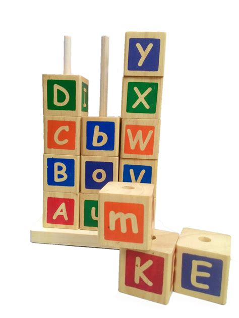 mainan edukatif sni menara huruf mainan kayu menara huruf mainan kayu sni
