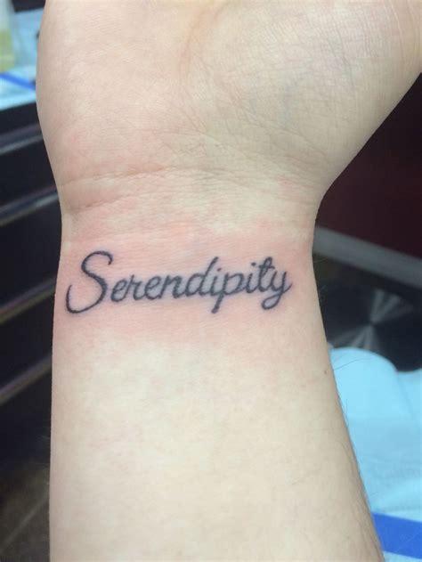 serendipity tattoo 17 best ideas about serendipity on word