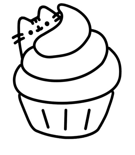 pusheen cupcake cat black pearl custom vinyls