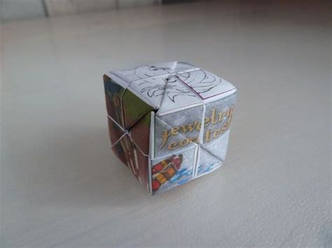 Puzzle Origami - origami picture puzzle cube papercraft pictures of and