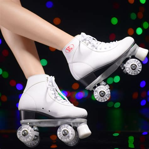 roller skates with led lights reniaever roller skates with white led lighting wheels