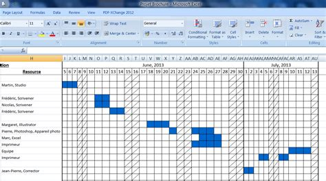 mindmaple gestion de projet export excel et diagramme