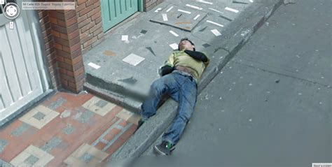 dead bodies on google street view is this colombian man dead or sleeping google street