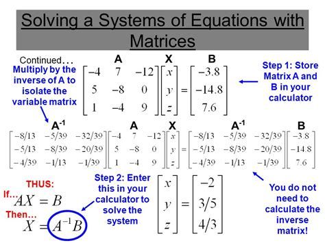 calculator inverse matrix using matrices to solve a 3 variable system ppt download