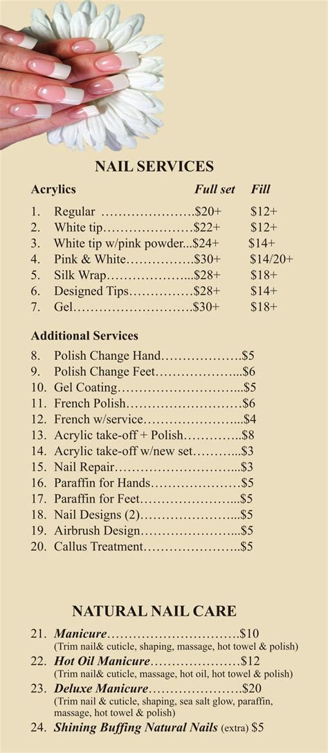 alyssa s nails amp skin care price list images frompo