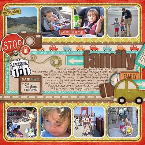 scrapbook layout with lots of pictures 17 best images about road trip layouts on pinterest road