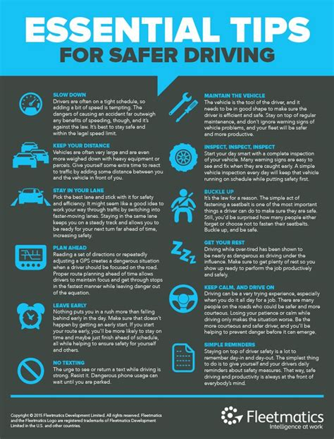 7 Tips For Being A Safe Driver On The Road by Safe Driving Infographic Tips For Trucking