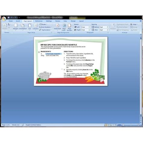 microsoft word recipe template help find and download