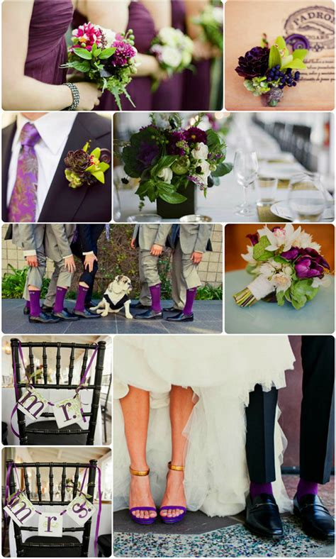 aubergine color wedding images