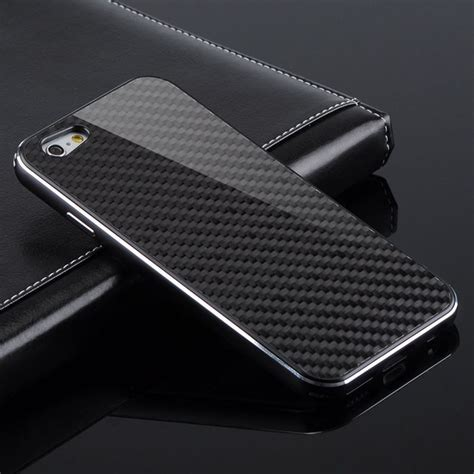 Iphone 5 5s 5se Slim Silicone Casing Black Premium carcasa fibra de carbo iphone 6 plus y normal