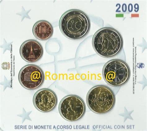 monete fior di conio divisionale italia 2009 serie fior di conio fdc romacoins