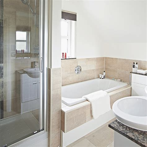 Bathroom Splashback Ideas White Bathroom With Neutral Tile Bath Panel And