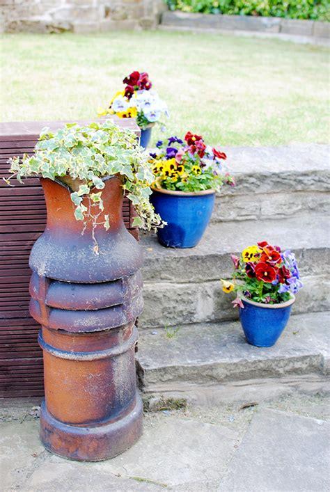 Chimney Pot Planters by July 2013