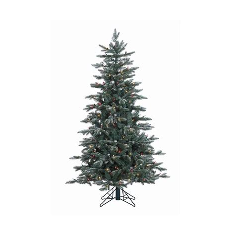 shop vickerman 5 ft pre lit balsam fir slim flocked