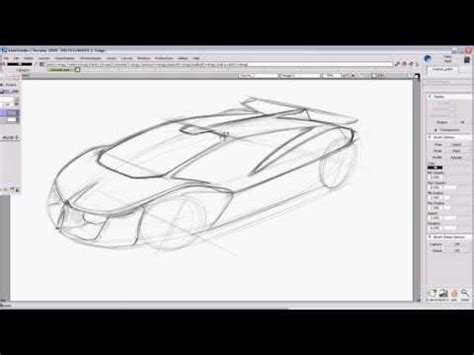 auto layout tutorial youtube car design sketch tutorial for a supercar using autodesk
