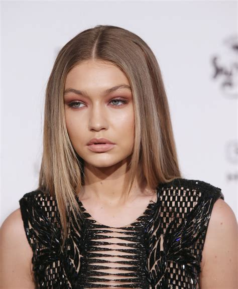 gigi hadid hairstyles gigi hadid long straight cut hair lookbook stylebistro