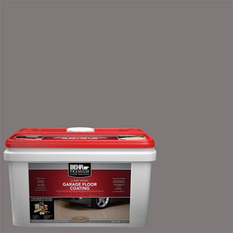 behr premium 1 gal pfc 23 2 part epoxy garage floor coating kit 95536 the home depot