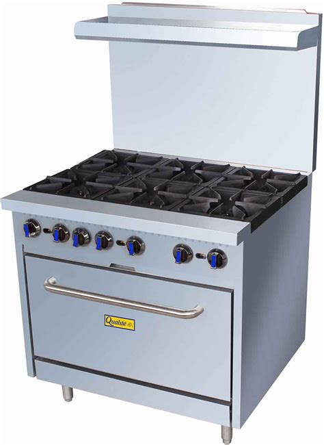 Oven Gas Reyoven qualite qlgr 36 36in gas range w 6 burners and oven gas restaurant equipment and