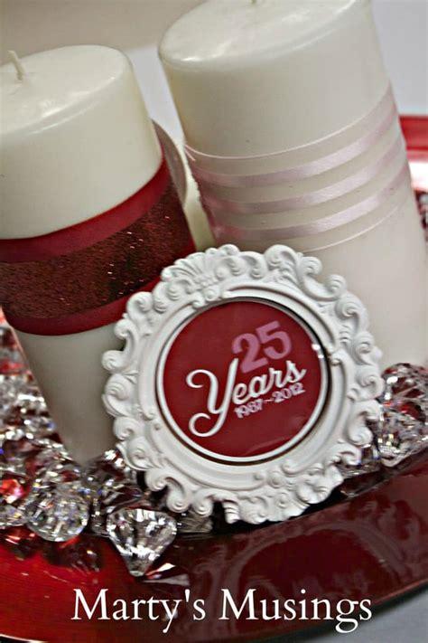 25 year wedding anniversary decor ideas