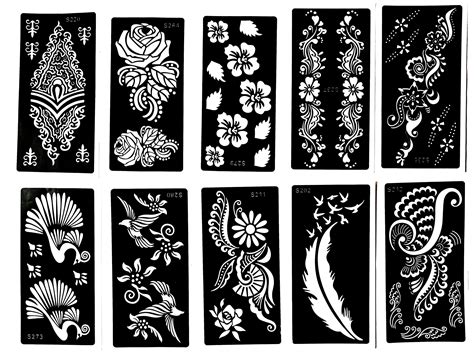 tattoo sheets designs henna stencil 10 sheets self