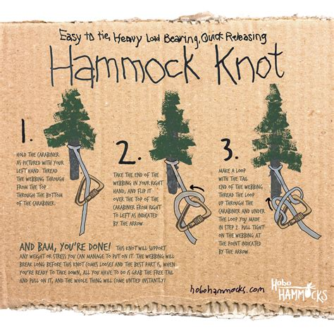 Knot For Hammock the only hammock knot you ll need how to hang a hammock hobo hammocks