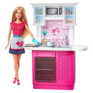 Barbie Kitchen Furniture by Barbie Doll And Kitchen Furniture Set Target