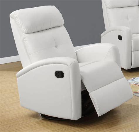 white leather swivel recliner 8088wh white bonded leather swivel glider recliner 8088wh