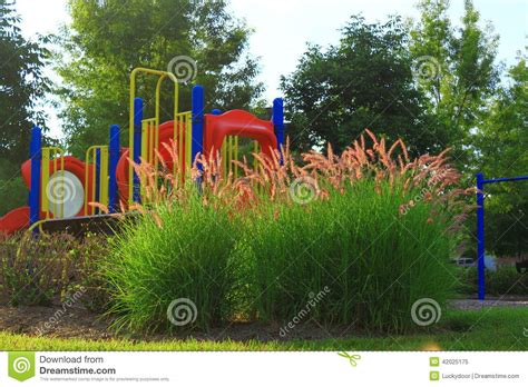 playground landscaping playground landscaping stock photo image 42025175