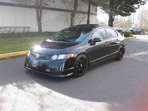 custom honda civic si 2008 honda civic si 6 speed all custom sport kit rims 1 owner
