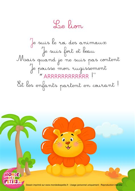 Comptines 224 Gestes Le Lion Comptines Chants Pinterest