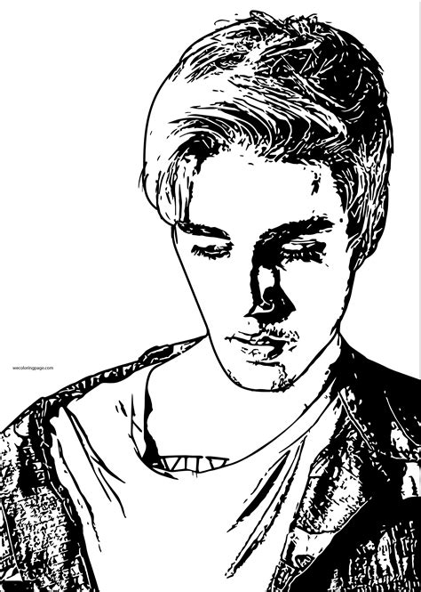 justin bieber coloring page wecoloringpage