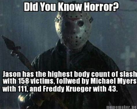 Jason Voorhees Memes - 17 best images about movie trivia on pinterest canada