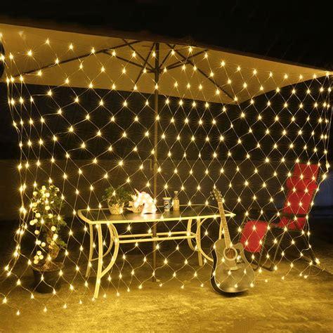 mesh christmas lights outdoor thrisdar 2mx2m 144 led net string light garland web mesh string light garland outdoor