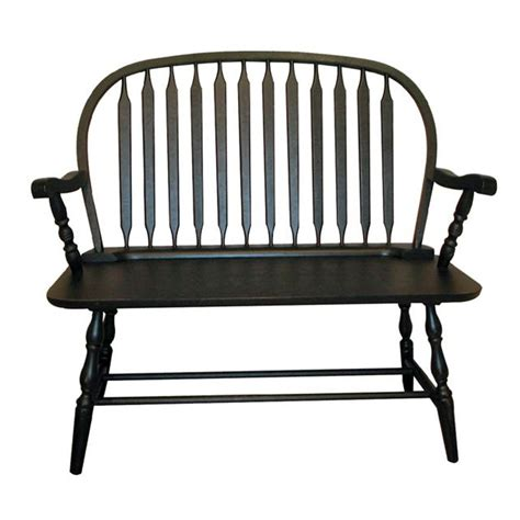 antique black bench carolina colonial windsor bench antique black
