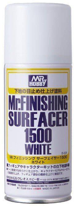 mr hobby finishing surfacer 1500 white spray can b529