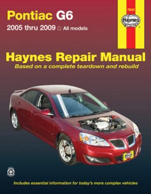 all car manuals free 2007 pontiac g6 regenerative braking pontiac g6 haynes repair manual 2005 2009 hay79025