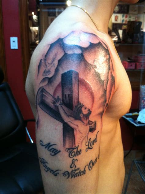 guy cross tattoos religious tattoos designs ideas and meaning tattoos for you