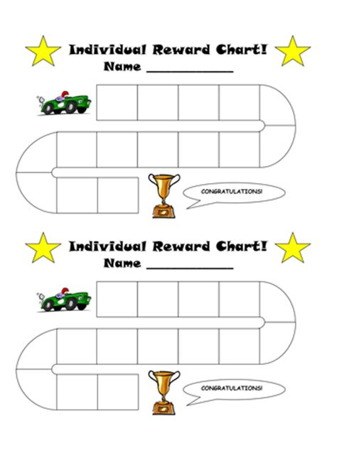 free printable individual incentive charts individual reward chart and certificate by kez1985