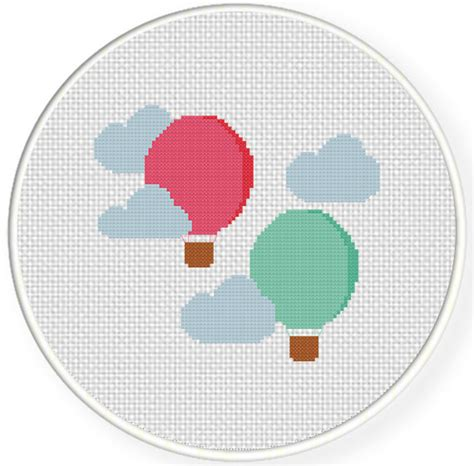 air balloon pattern hot air balloons cross stitch pattern daily cross stitch