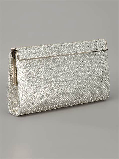 Jimmy Choo Metallic Clutch by Jimmy Choo Cayla Glitter Clutch In Metallic Lyst