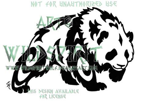 panda wolf tattoo tribal panda design by wildspiritwolf on deviantart