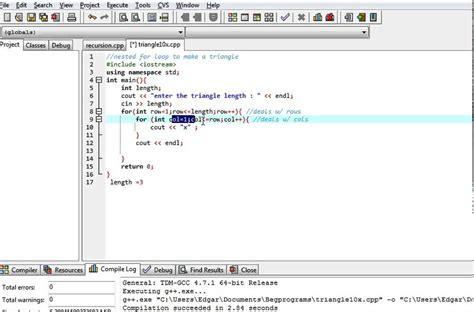 triangle pattern in java using for loop c program print right triangle using for loops youtube