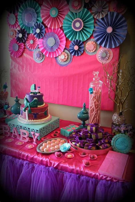 Purple And Pink Baby Shower Ideas by Pink Purple Turquoise It S A Baby Shower Ideas