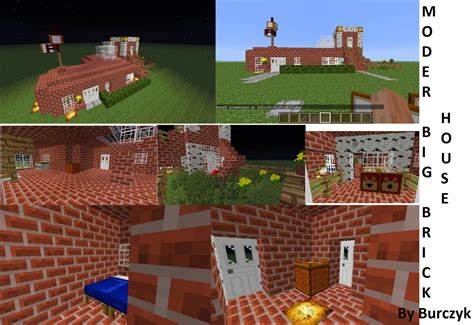 big brick houses modern houses 2 modern big brick house minecraft project