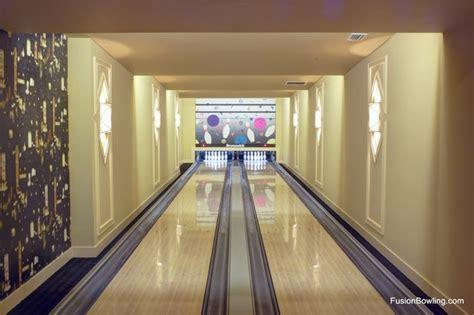 basement bowling alley lanes on farm estate