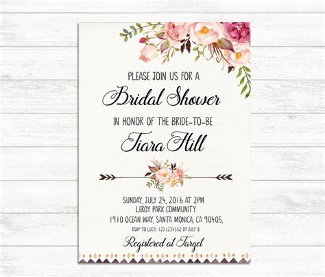 Bridal Shower Card Template Crab by Free Printable Wedding Shower Invitations Free Printable