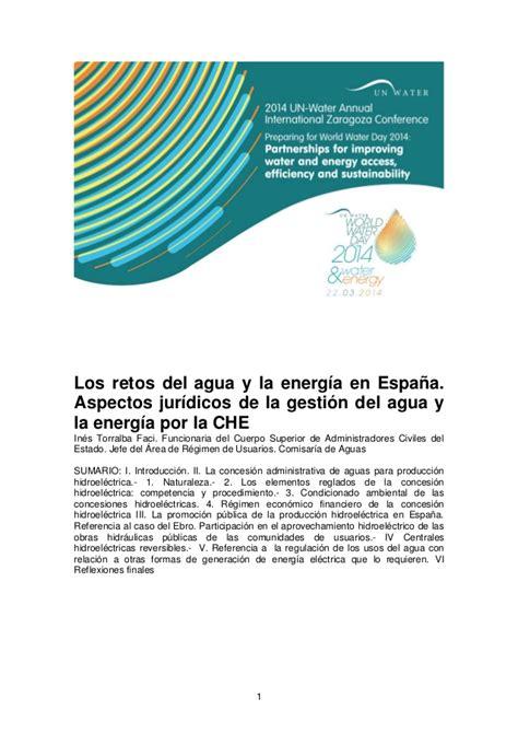 life pattern en español los retos del agua y la energ 237 a en espa 241 a aspectos